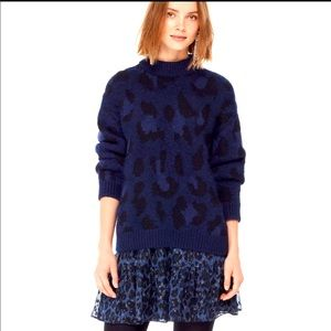 Kate Spade Wild Ones Leopard Sweater Size M